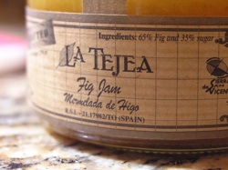 Fig Jam purchased at Jacuzzi Family Vineyards in Sonoma, CA.
