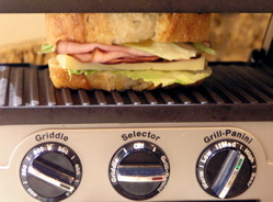 Sandwich grilling under medium-high heat