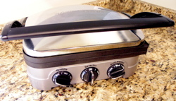 Although my husband laughed when I bought yet another cooking gadget, I use this Cuisinart Gridder Gourmet all the time.