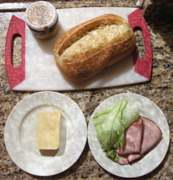 Great bread is one of the most important components of this sandwich.