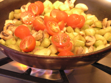 Sliced Cherry Tomatoes Added