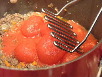 Tomatoes go in