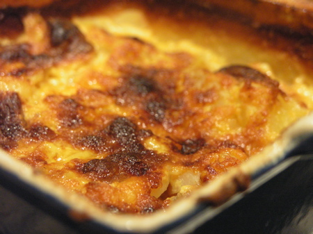 Gratin of Potatoes, Jerusalem Artichokes and Leeks