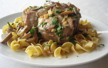 Pork Marsala with Noodles