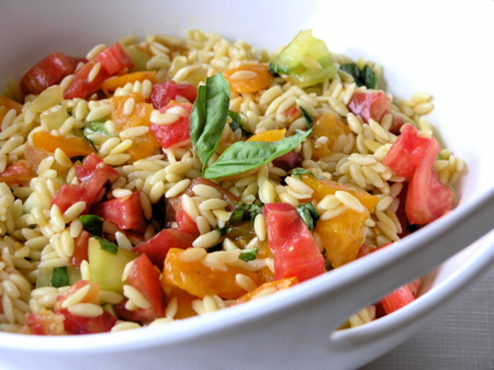 Orzo Salad With Artichokes, Tomatoes, Chickpeas, Feta & Lemon Basil ...