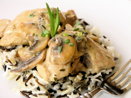 Chicken w/ Tarragon, Mushroom and Gruyère Cream Sauce