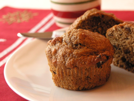 Spiced Fig and Pecan Oat Bran Muffins