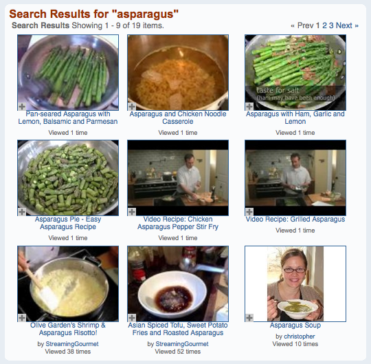 Asparagus search results